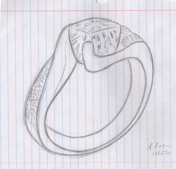 jewelry sketch artist  sketches  ring  rings
